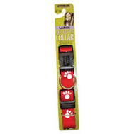 Petmate 27879 1 Inch By 16 26 Reflective Paw Collar Red