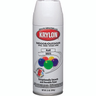 Krylon 51502 Colormaster White Flat Spray Paint