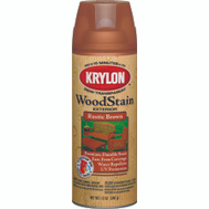 Krylon 3603 Exterior Stains Rustic Brown Exterior Semi-Transparent Wood Stain Spray 12 Ounce