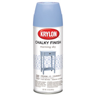 Krylon K04110000 DIY Series Chalky Finish Spray Paint Morning Sky 12 Ounce