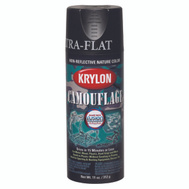 Krylon 4290 Camouflage Black Flat Camo Spray Paint