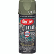 Krylon 4296 Camouflage Woodland Light Green Camo Flat Spray Paint