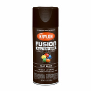 Krylon K02728007 Fusion Spray Paint Flat Black 12 Ounce