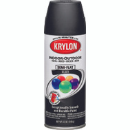 Krylon 53565 Colormaster Black Semi-Flat Spray Paint