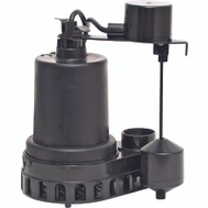 Superior Pump 92372 Thermoplastic Sump Pump With Vertical Float Switch 1/3 HP