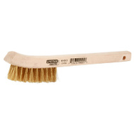 """Brass with Curved Wood Handle 8-5//8/"""" Forney 70491 Wire Scratch Brush"""