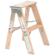 Michigan Ladder 131102 Stepladder Wood Extra Hd 2Ft