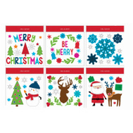 LG Design Group 13276D Christmas Gel Clings 12 By 12