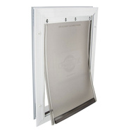 Pet Safe PPA00-10860 Aluminum White Medium Pet Door