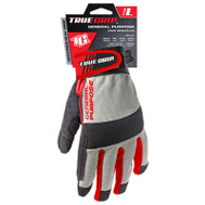 Big Time Products 9813-23 Synthetic Leather Palm Padded Gloves Large
