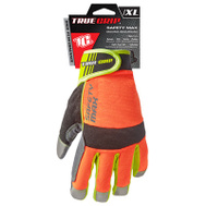 Big Time Products 9844-23 Safety Max Hi-Vis Synthetic Leather Palm Gloves Extra-Large