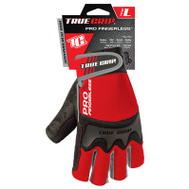 Big Time Products 9863-23 Pro Fingerless Terry Reinforced Gloves Large