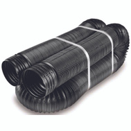 Amerimax 51310 Flexible Expandable Drain Pipe Perforated 4 Inch By 25 Feet