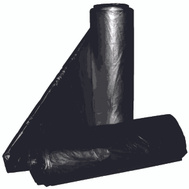 Aluf Plastics RL-2432H 12 To 16 Gallon Commercial Can Liners - T-Tough Roll Pack - Low Density