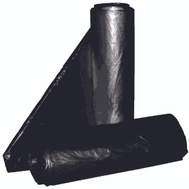 Aluf Plastics RCT-45X 45 Gallon Commercial Can Liners - T-Tough Roll Pack - Low Density