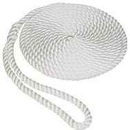 Unified Marine 50013001 3/8 Inch By 20 Feet White Nylon Dockline