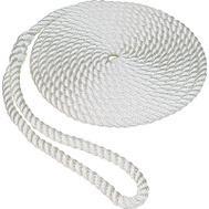 Unified Marine 50013011 1/2 Inch By 25 Feet White Nylon Dockline