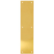 Tell DT100071 Push Plate 3-1/2 By 16 Inch Bright Brass