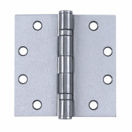 Tell HG100319 4 Inch Ball Bearing Door Hinge Stainless Steel Non Removable Pin