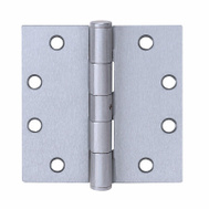 Tell HG100322 Commercial Door Hinge 4 Inch Square Corner Satin Stainless Steel