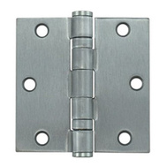 Tell HG100324 3-1/2 Inch Ball Bearing Door Hinge Stainless Steel Removable Pin