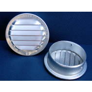 Maurice Franklin 6 RL-100 Louver With Screen Aluminum Round 6 Inches (Bag Of 2)