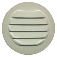 "Maurice Franklin RLW-100 1.5"" 1 1/2 Inch Round White Aluminum Screen Louver"