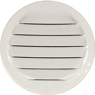 "Maurice Franklin RLW-100 2.5"" 2 1/2 Inch Round White Aluminum Screen Louver"