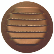 "Maurice Franklin RLB-100 2"" 2 Inch Round Brown Aluminum Screen Louver"