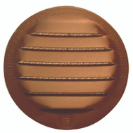 Maurice Franklin RLB-100 2 1/2 Inch Round Brown Aluminum Screen Louver