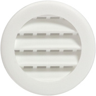 "Maurice Franklin PLW100 1"" 1 Inch Round Plastic Screen Louver White Pack Of 6"