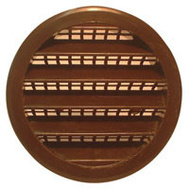 "Maurice Franklin PLB-100 1"" 1 Inch Round Plastic Screen Louver Brown"