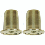 Jandorf 60109 1 Inch Top Hat Finial Brass Finish