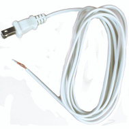 Jandorf 60134 Lamp Replacement Cord 8 Foot 18/2 SPT-2 White