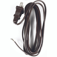 Jandorf 60135 Lamp Replacement Cord 8 Foot 18/2 SPT-2 Brown