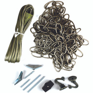 Jandorf 60261 Ceiling Swag Chain Kit Antique Brass With 15 Foot Chain And 20 Foot Cord