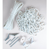 Jandorf 60262 Ceiling Swag Chain Kit White With 15 Foot Chain And 20 Foot Cord