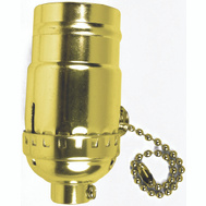 Jandorf 60410 Lamp Socket On/Off Pull Chain Brass Finish