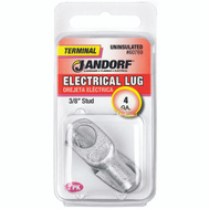 Jandorf 60769 Terminal Electrical Lug Uninsulated 3/8 Inch Diameter Stud Wire Gauge 4