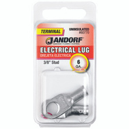 Jandorf 60770 Terminal Electrical Lug Uninsulated 3/8 Inch Diameter Stud Wire Gauge 6