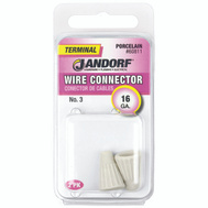 Jandorf 60811 Terminal Wire Connector Porcelain Number 3 Wire Gauge 16