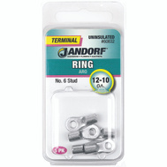 Jandorf 60832 Ring Uninsulated Number 6 Stud Wire Gauge 12-10