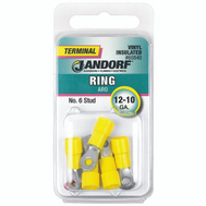 Jandorf 60840 Ring Vinyl Insulated Number 6 Stud Wire Gauge 12-10