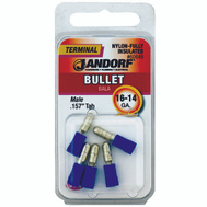 Jandorf 60849 Terminal Bullet Male Insulated.157 Tab