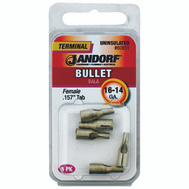 Jandorf 60851 Terminal Bull Female Uninsulated.157 Tab 16-14 Gauge