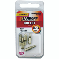 Jandorf 60852 Terminal Bull Male Uninsulated.157 Tab 16-14 Gauge