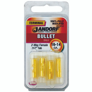 Jandorf 60853 Terminal Bullet Female Vinyl 2Wy Insulated.157 Tab