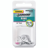 Jandorf 60902 Terminal Ring 16-14 Uninsulated 1/4