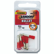 Jandorf 60925 Terminal Bullet 22-18 Male Nylon Insulated