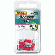 Jandorf 60972 Terminal Ring 22-18 Vinyl Insulated N6